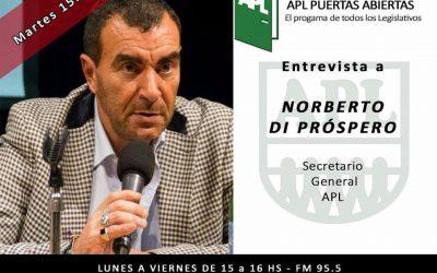 Norberto Di Próspero hablo con APL Puertas Abiertas.