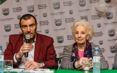 """En APL empezó un nuevo encuentro del curso """"Derecho a la identidad"""" con la presencia de Estela de Carlotto y Norberto Di Próspero."""
