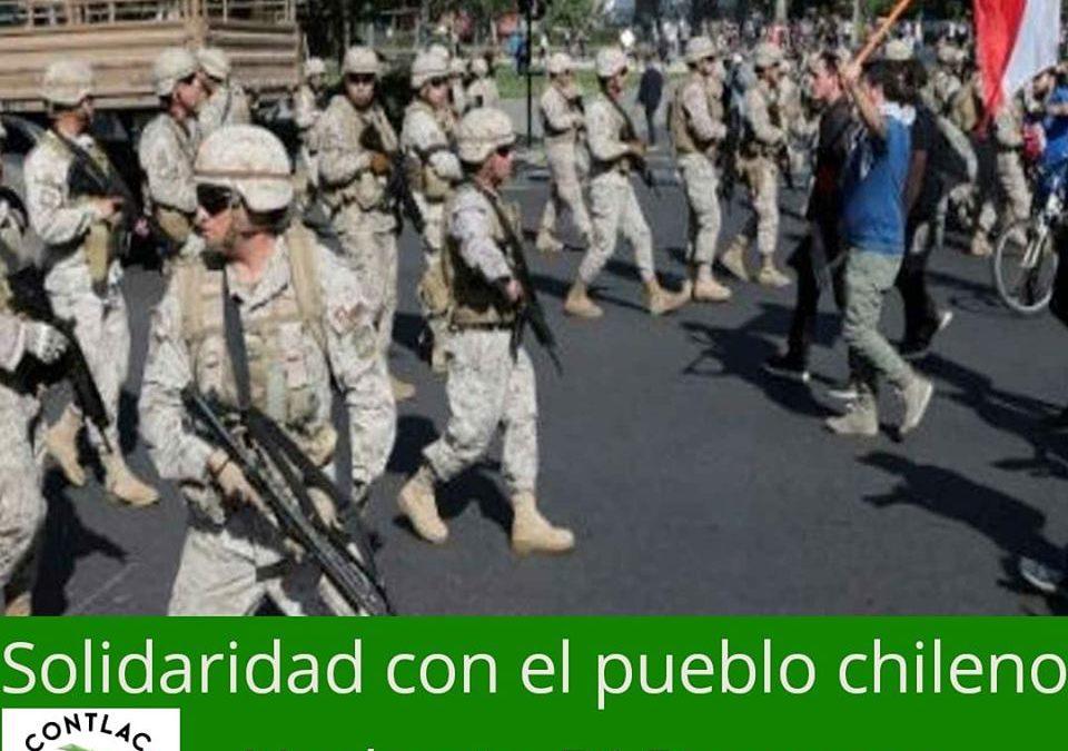 Solidaridad con el hermano pueblo de Chile.