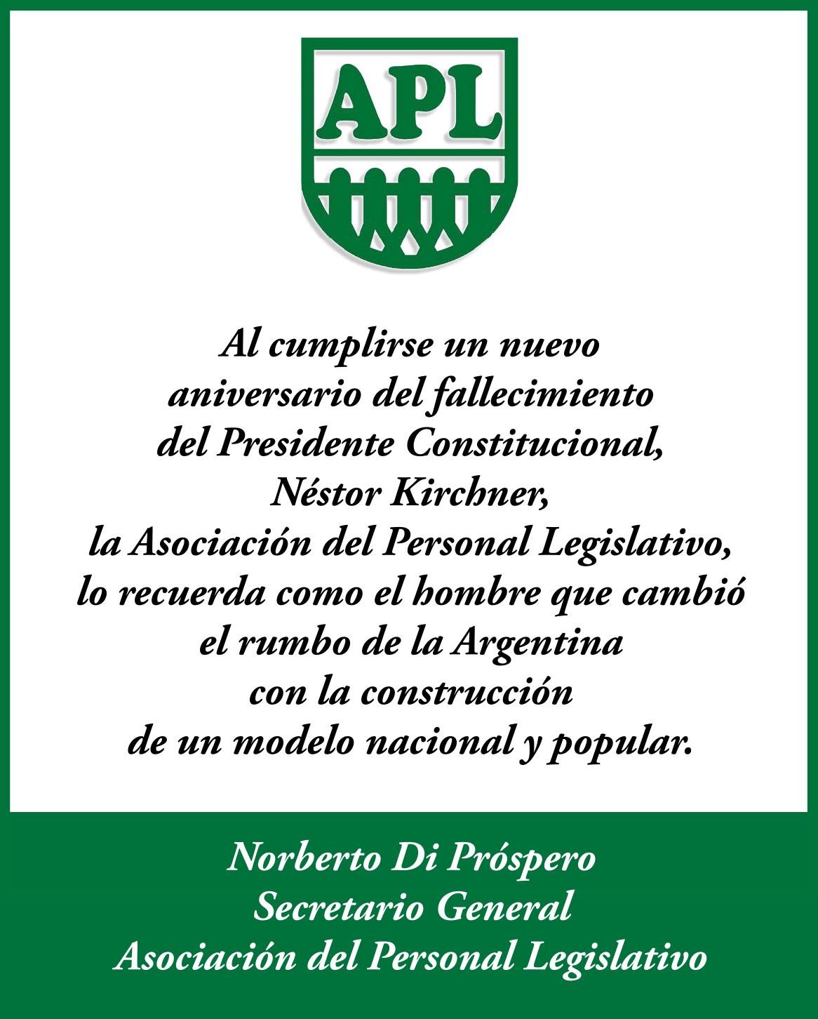 Aniversario del fallecimiento de Nestor Kirchner