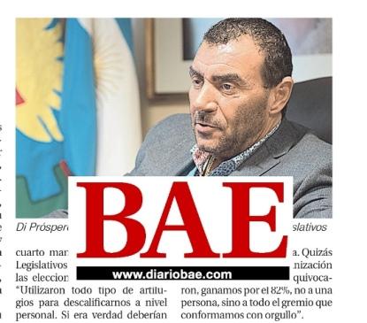 Entrevista en Diario BAE