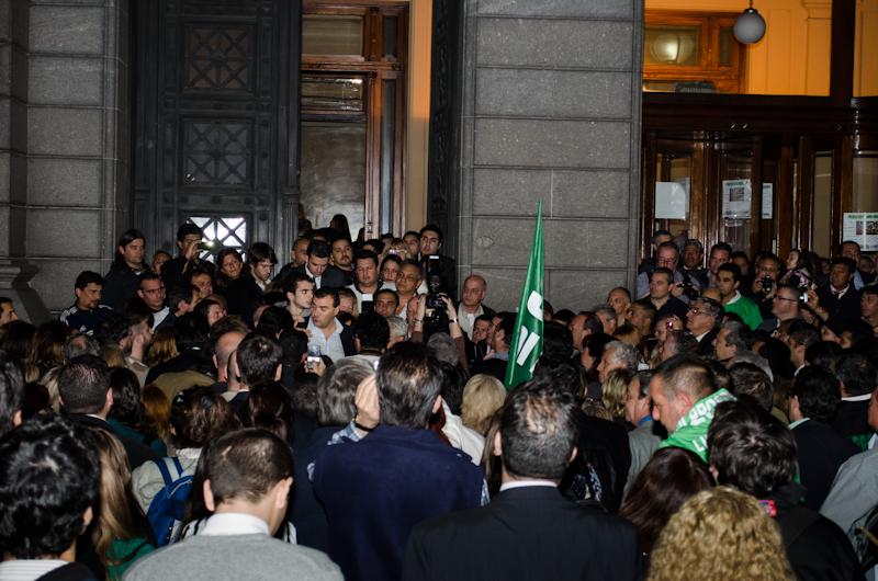 El día que los legislativos eligieron a Norberto Di Próspero por tercer mandato consecutivo.
