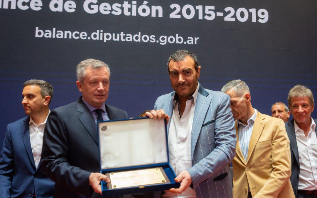 Di Próspero recibió un reconocimiento de la HCDN y APL premió a Eduardo Fellner «por su lealtad»