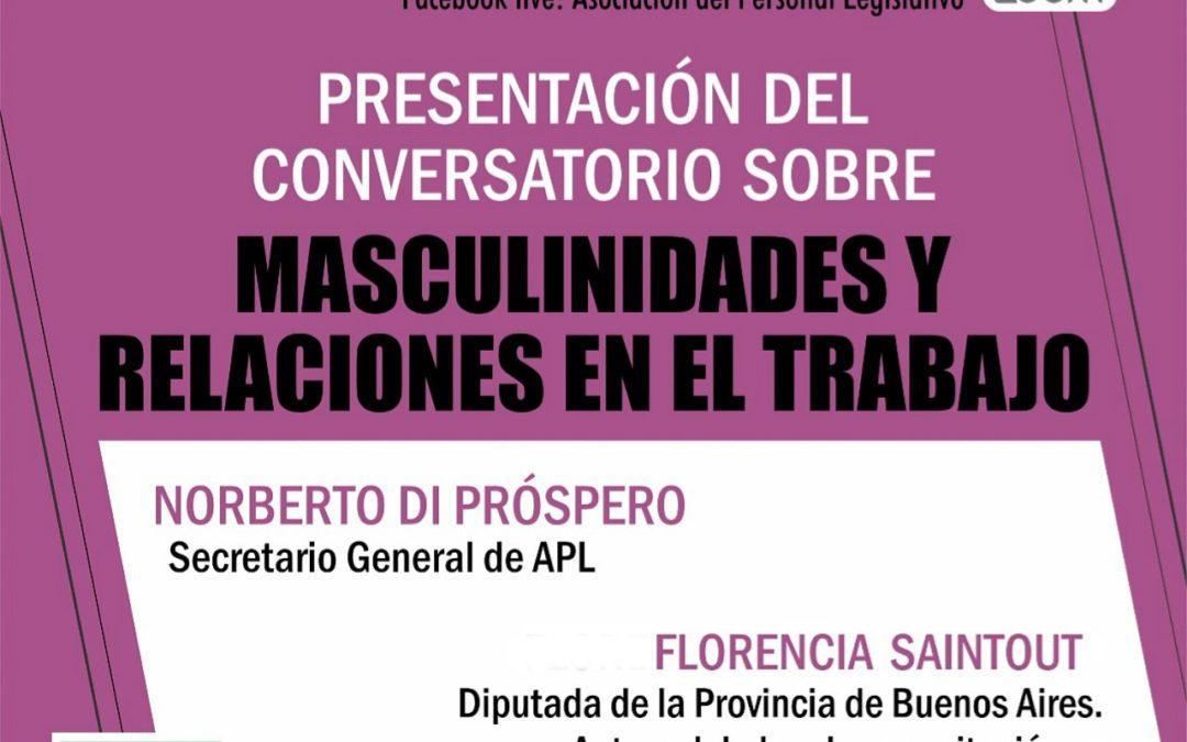 Conversatorio sobre masculinidades y relaciones del trabajo.