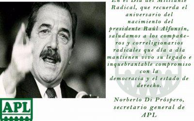 Día del militante radical
