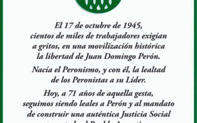 17 de octubre de 1945, nacía el Peronismo.